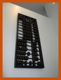 giant abacus attached to wall